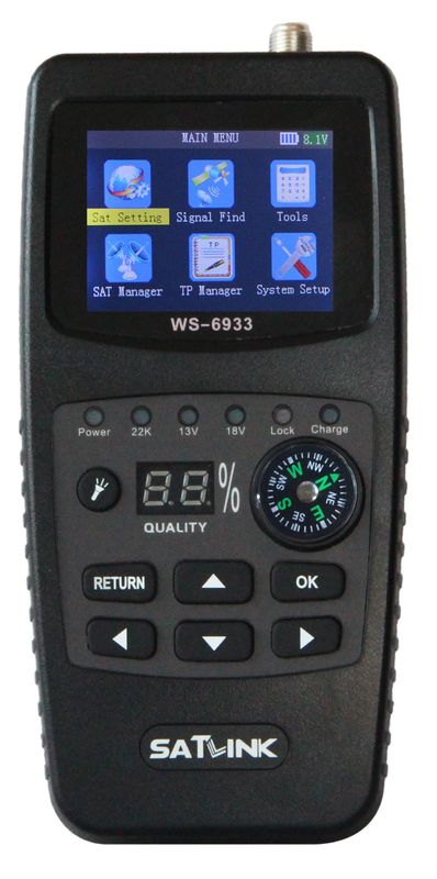 Original Satellite Dish Signal Meter HD MPEG-4 , Digital Satellite Finder With Lcd Screen DVB S2